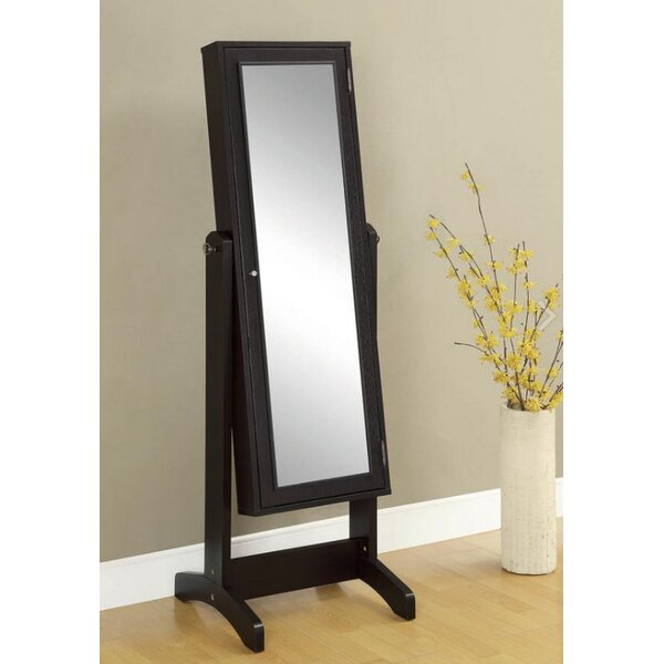 Winnie Free Standing Jewelry Armoire with Mirror by Canora Grey Canora Grey