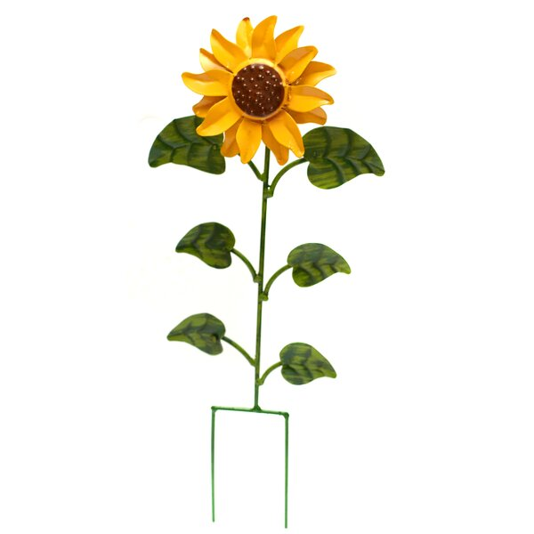Tuscany Sunflower Garden stake by Rustic Arrow