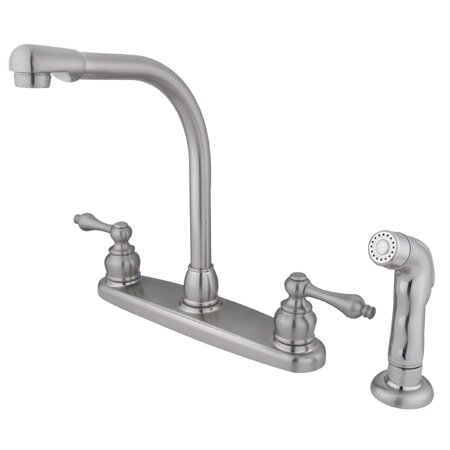 Victorian Double Handle Kitchen Faucet with Optional Side Spray by Kingston Brass
