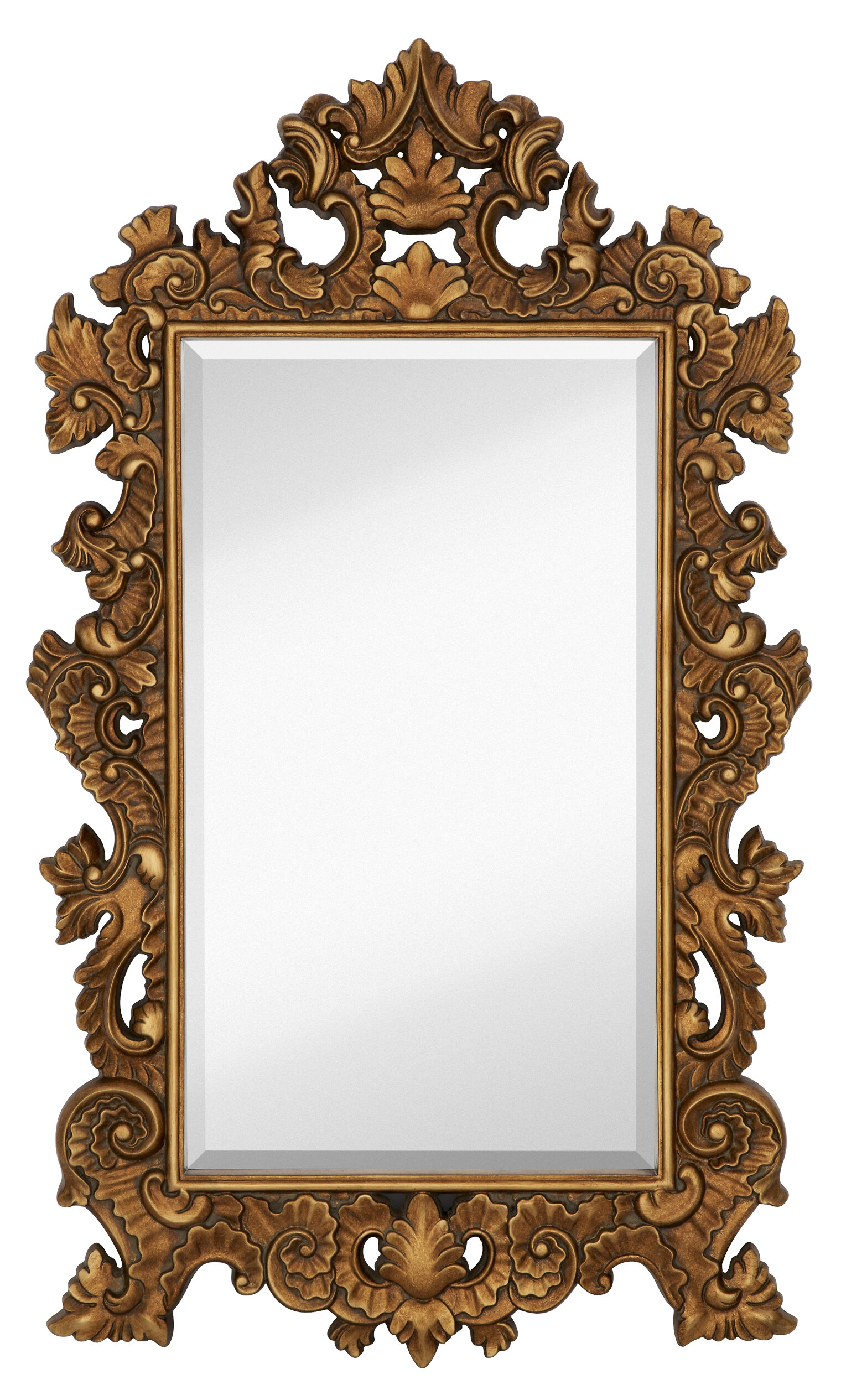 Majestic Mirror Tall Rectangle Traditional Accent Mirror with ...