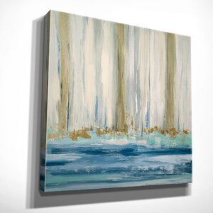 'Mountain Water II' by Susan Jill Framed Painting Print on Wrapped Canvas by Wexford Home