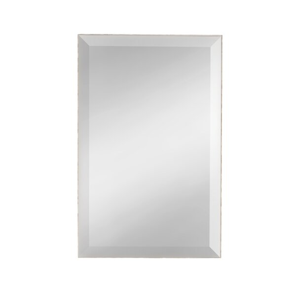 West Palm Mosaic Shell Sided Beveled Vanity Wall Mirror by DesignOvation