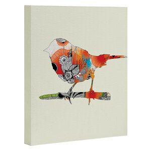 'Little Bird' Graphic Art on Wrapped Canvas by East Urban Home