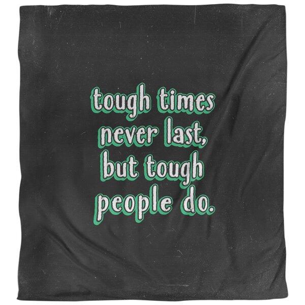 Quotes Tough Times Single Reversible Duvet Cover