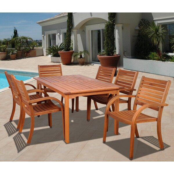 Frye 7 Piece Dining Set by Beachcrest Home
