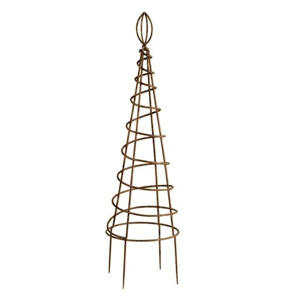 Spiral Topiary Obelisk Trellis by Deer Park Ironworks