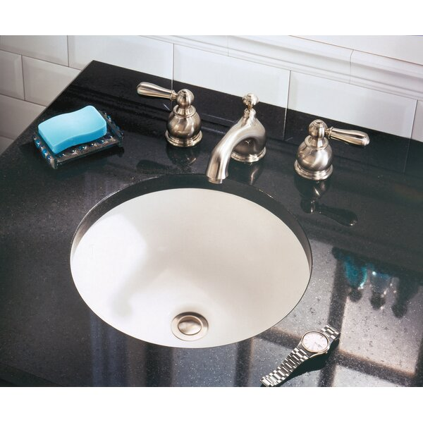 Orbit Ceramic Circular Undermount Bathroom Sink wi