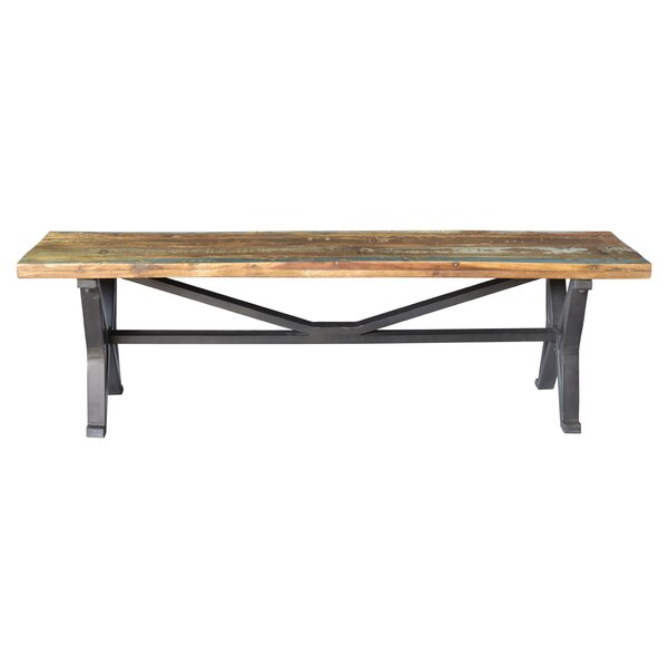Minerva Colorado Old Top Wood Bench by Gracie Oaks