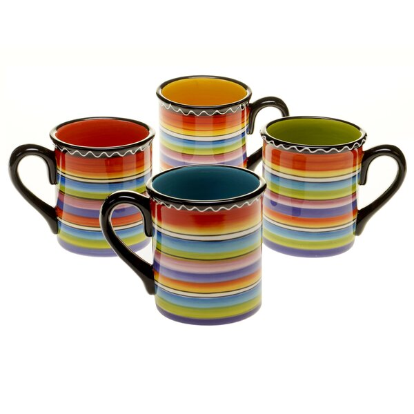 Recinos 18 oz. Mug (Set of 4) by World Menagerie