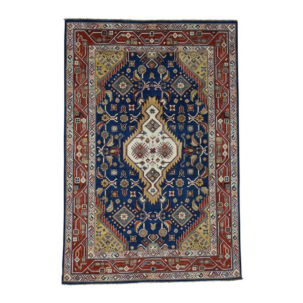 One-of-a-Kind Tillett Special Hand-Knotted Navy Blue Area Rug by Millwood Pines