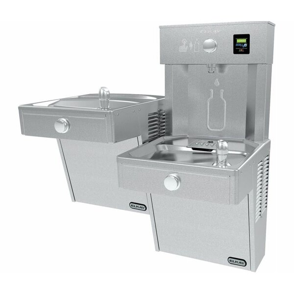 Filtered Vandal-Resistant EZH2O® Bottle Filling Station with Bi-Level Vandal-Resistant Cooler by Elkay