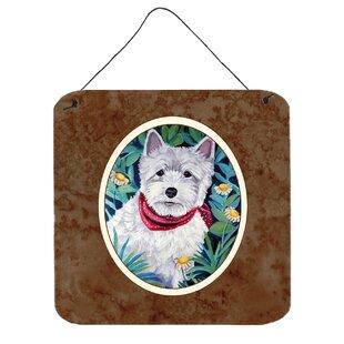 Set of 4 3dRose cst/_23301/_3 West Highland Terrier Westie Westie in Costume Witch Halloween Westie Dog-Ceramic Tile Coasters