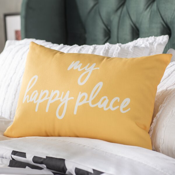 Degeorge My Happy Place Lumbar Pillow by Mercury Row