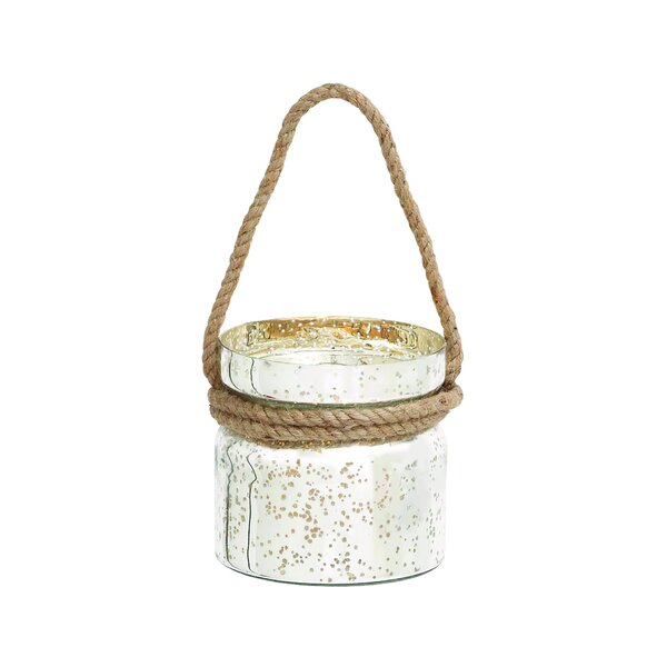 Attractive Styled Glass Lantern by Woodland Imports