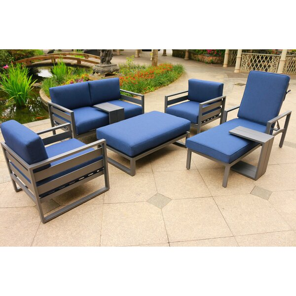 Hearne 7 Piece Sofa Seating Group with Cushions by Orren Ellis