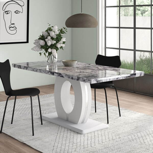 Marble Effect Dining Table Wayfair Co Uk