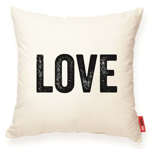 Expressive Love Decorative Cotton Throw Pillow by Posh365
