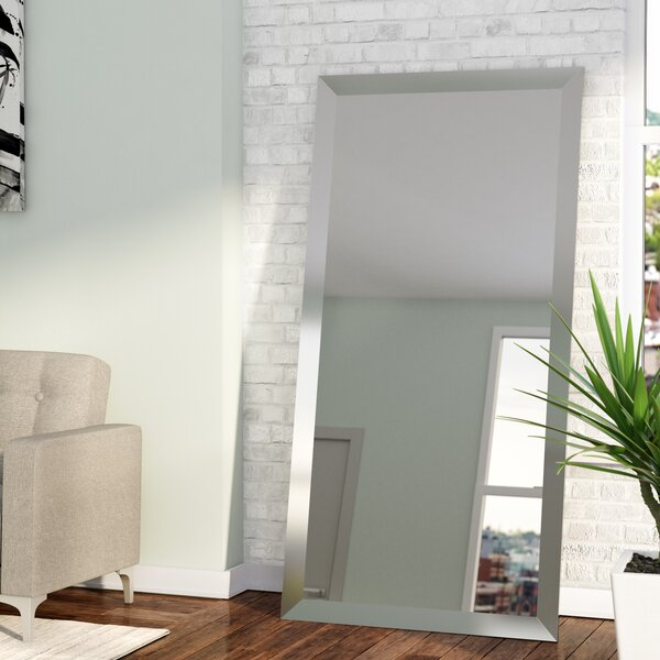Rectangle Nickel Wall Mirror by Wade Logan