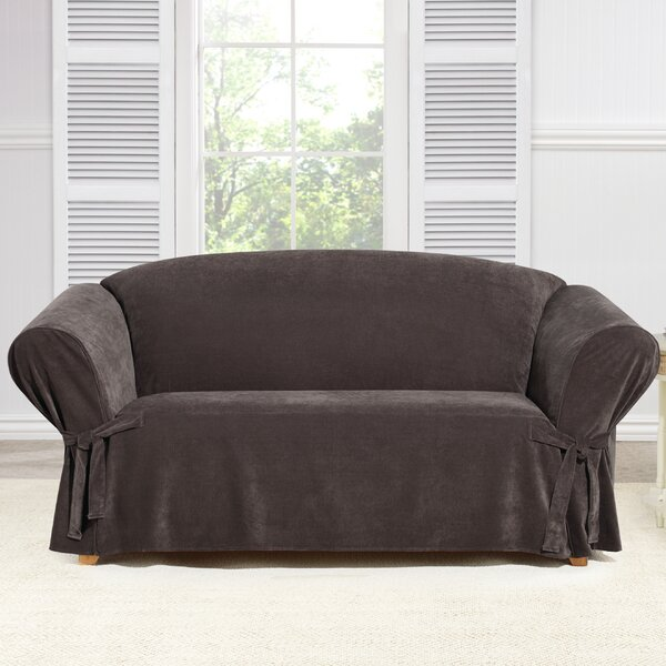 Everyday Chenille Box Cushion Loveseat Slipcover by Sure Fit