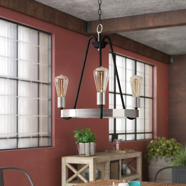 Hafford 3 - Light Unique Wagon Wheel Chandelier By Williston Forge