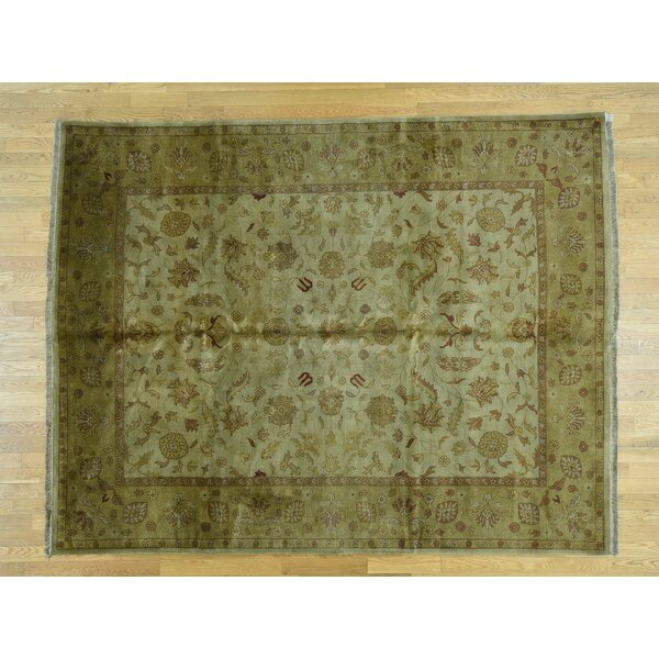 One-of-a-Kind Benally Indo Handwoven Green Wool Area Rug by Isabelline