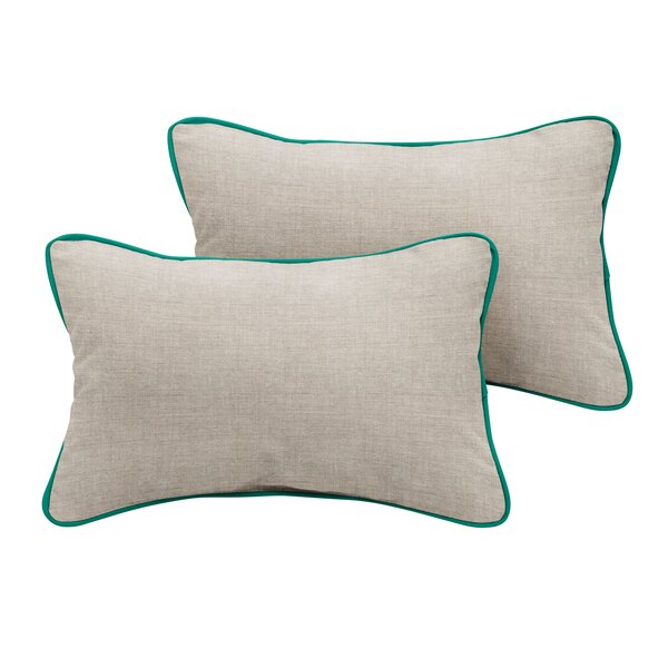 Benicia Sunbrella Cast Outdoor Lumbar Pillow (Set of 2) by Rosecliff Heights