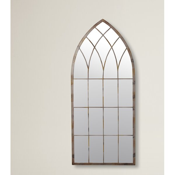 Cathedral Windowpane Style Garden Mirror by Lark Manor