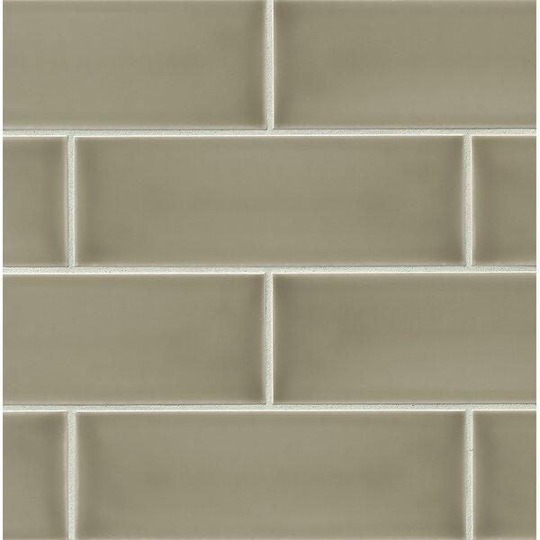 Leila 4 x 12 Ceramic Subway Tile in Dove by Grayson Martin
