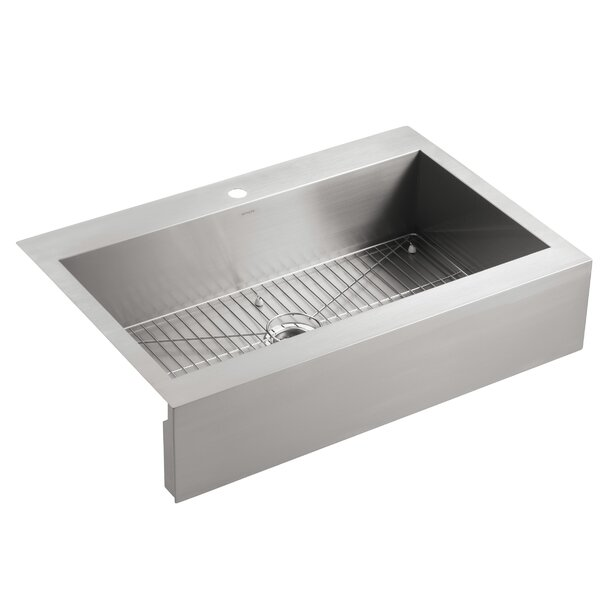 Vault Top-Mount Single-Bowl Stainless Steel Kitchen Sink with ...