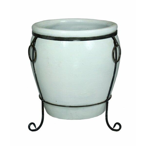 Kimbrell Elegantly Charmed Ceramic Flower Pot Planter by Charlton Home
