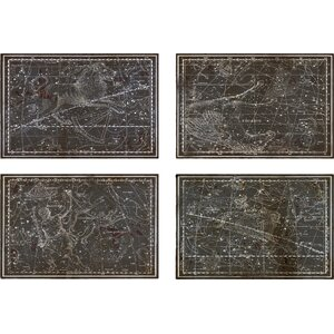 Celestial Map XVI Century 4 Piece Graphic Art on Wrapped Canvas Set by Trent Austin Design