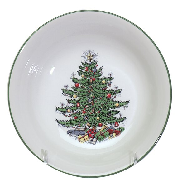 Original Christmas Tree Traditional Cereal Bowl (Set of 4) by The Holiday Aisle