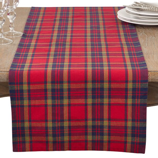 Vierra Classic Plaid Everyday Cotton Table Runner by Loon Peak