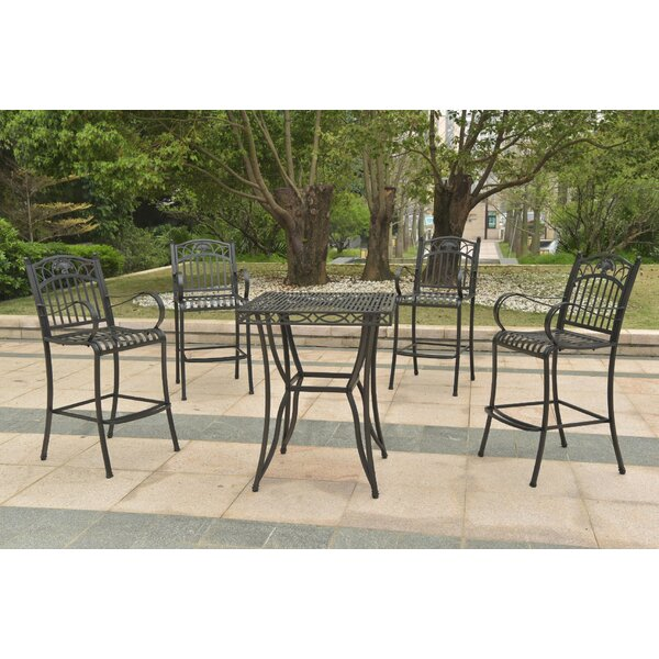 Oak Bluffs 5 Piece Dining Set by Fleur De Lis Living