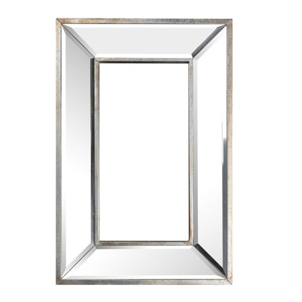 Warfield Wood and Glass Wall Mounted Mirror by House of Hampton