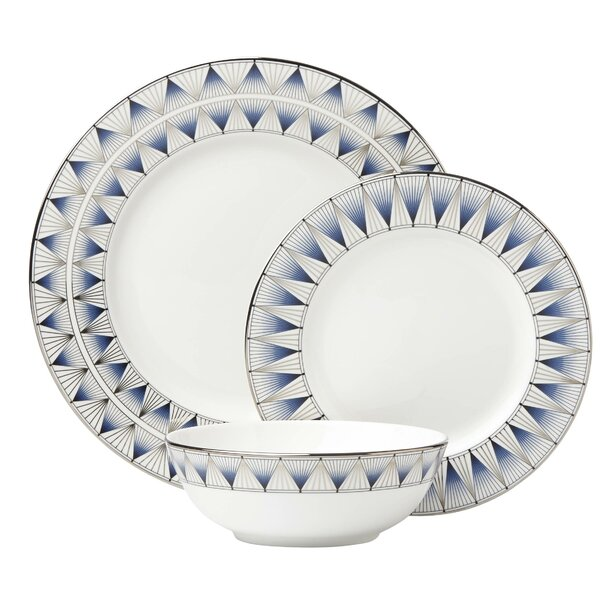 Geodesia 3 Piece Place Setting, Service for 1 by Lenox