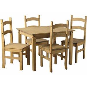 Essgruppe Vida Corona mit 4 Stühlen von Wildon Home