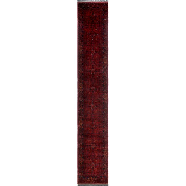 One-of-a-Kind Millar Obi Hand-Knotted Wool Red Are Rug by Bloomsbury Market