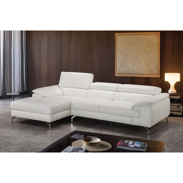 Ashwood Leather Sectional by Orren Ellis