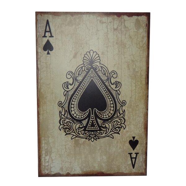 Ace of Spades Graphic Art Plaque by Trent Austin Design