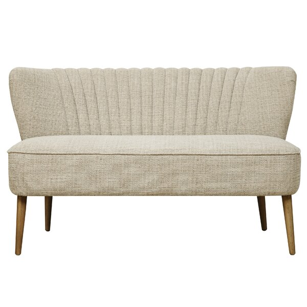 Jorgen Mid Century Vertically Channeled Settee by Langley Street