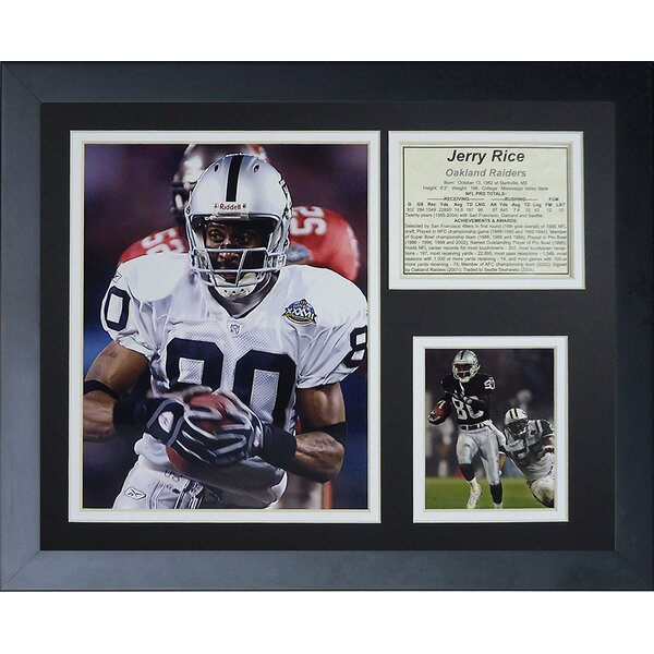 Jerry Rice Oakland Raiders Framed Photographic Print by Legends Never Die