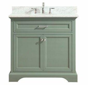 Evander Marble Top 37 Single Bathroom Vanity Set by MistanaEvander Marble Top 37 Single Bathroom Vanity Set by Mistana