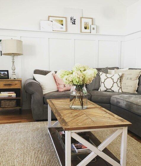 Nottooshabbymama Cottage/Country Living Room Design