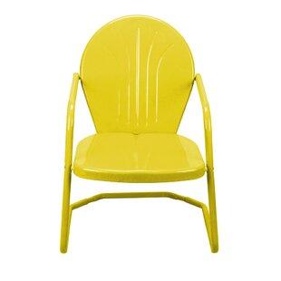 Retro Metal Patio Chairs | Wayfair