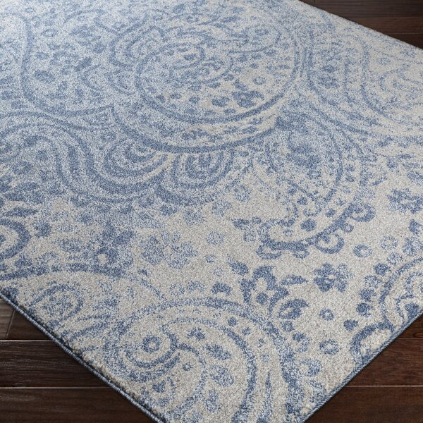 Carmel Gray/Blue Area Rug by Bungalow Rose