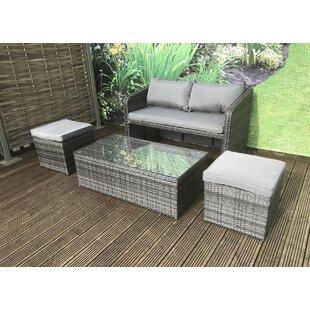 rattan sofa set with storage wayfair co uk
