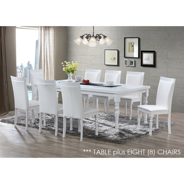 Daisi 9 Piece Solid Wood Dining Set by Darby Home Co Darby Home Co
