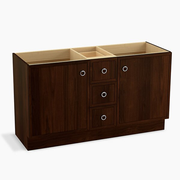 Jacquard™ 60 Vanity with Toe Kick, 2 Doors and 3 Drawers, Split Top Drawer by Kohler