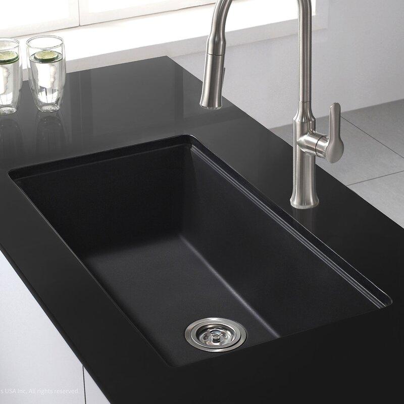 Kraus 31 x granite undermount kitchen sink - Black kitchen sink undermount ...